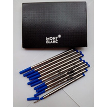 Carga Refil Rollerball Mont Blanc Azul Menor Preço Confira!