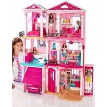 Casa Da Barbie Drean House 3 Andares Completa + 3 Bonecas
