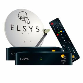 Kit Completo Oi Tv Livre Hd Elsys Com 2 Receptores + Frete!