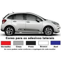 Kit Adesivos Citroen C3 Faixa Lateral Acessórios Esportivos