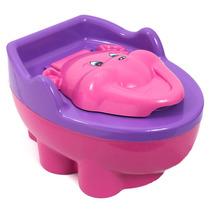 Troninho Infantil Pinico Musical 2 Em 1 Urso Rosa