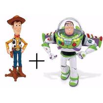 Boneco Woody + Buzz Lightyear Falam Em Português Toyng