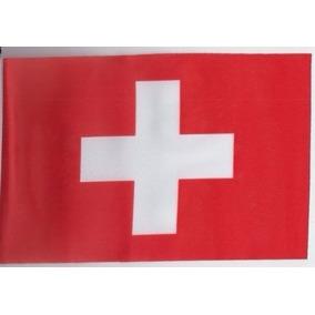 Bandera Suiza 150x90cm Cruz Griega Blanca Suizo 740