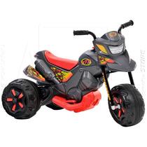 Moto Elétrica Xt3 Grafite Infantil Menino Bandeirante