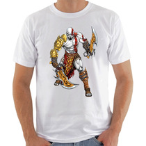 Camisa Camiseta Kratos - Branca - God Of War - Geek Game