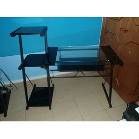 Mesa Escritorio Para Computadora E Impresora Con Su Porta Te