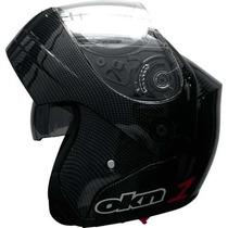 Casco Okinoi Rebatible Carbono Doble Visor En Freeway Motos!