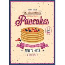 Poster Decorativos Pancakes Comida A4a3pl044