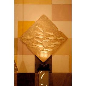 Cuadro Cardumen En Fibra De Vidriocon Adornos De Cristal