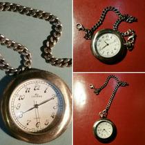 Reloj De Bolsillo Quartz Retro Japonés. Funciona