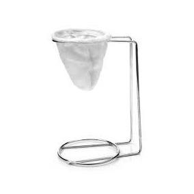 Suporte De Metal + Mini Coador Para Café Individual