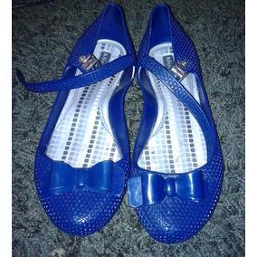Sapatilha Azul Tipo Melissa Tam. 36