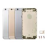 Tapa Trasera Carcasa Aluminio Iphone 6 Gris Botones Y Sim