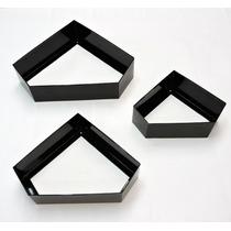 Nicho Decorativo Kit 3 Peças Diamante Não Fura Parede Preto