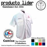 Camisas Tipo Columbia Uniformes Gratis Bordado (algodón)