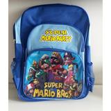 Mochila Super Mario Bros Grande - Pronta Entrega No Brasil!