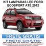Kit Lâmpadas Led Ford Ecosport Placa Pingo Teto Luz De Ré
