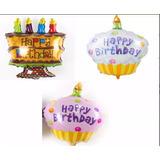 Globos Metalizados-metalicos Cupcakes-tortas Cumpleaños