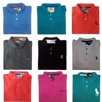 Kit 10 Camisas Polo Camiseta Revenda Atacado Grandes Marcas