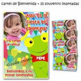 Sapo Pepe - 15 Souvenirs Iman + Cartel Bienvenida Con Foto