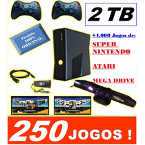 Xbox 360 +kinect + Controle Sem Fio + Hd Ext 2 Tb +250 Jogos