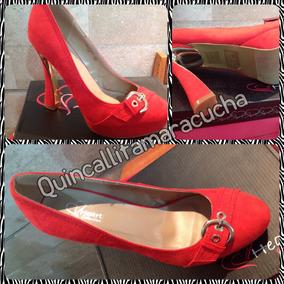 Zapatos Rojos Pálido Nuevos Tallas 38. En Su Caja
