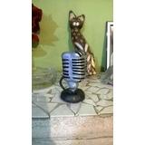 Microfono Retro, Lechuzas Y Mamushka En Porcelana Fria!!!