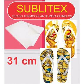 Sublitex - Tecido Termocolante P/ Chinelos - 31cm - 10 Mt