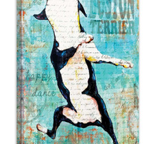 Boston Terrier Painting Print On Wrapped Canvas