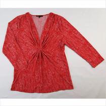 Espectacular Blusa Naranja Para Dama Chaus Talla Mediana