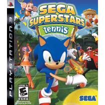 Jogo Ps3 Sega Superstars Tennis Original M. Física