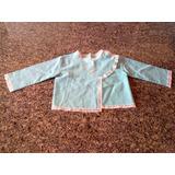 Antiga Camiseta Blusinha Para Bebê Com Bordado Anos 60/70