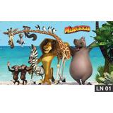 Madagascar Painel 3,00x1,60m Lona Aniversario Decoração Fest