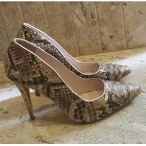 Sapato Carmen Steffens Couro Piton Exclusivo Tam 37