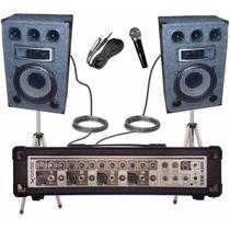 Combo Amplificador Cabezal Con 5 Entradas + Dos Bafles De 12
