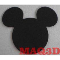 Aplique Eva Mickey Minnie Grande De 7cm Com 30 Unidades