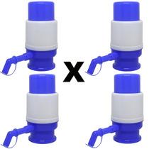 Kit X 4 Bomba Para Galão De Água Mineral - 10 Ou 20 Litros