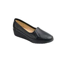 Zapato De Descanso Para Dama Piel Negro Modelo 6041