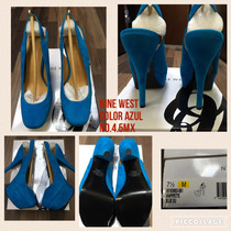 Hermosas Zapatillas Nine West Color Azul. 100% Originales!