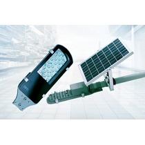 Lampara Solar Alumbrado Publico 12w Panel Solar Exteriores