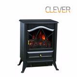 Calefactor Hogar Electrico Estufa Fuego Leña Clever Fpp1800