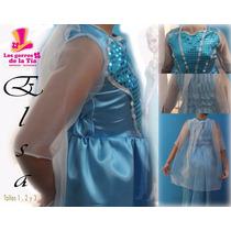 Disfraz De Elsa!!!!! Varios Talles