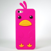 Funda Pollo 3d Silicon Pollito Rosa Para Iphone 5 5s Se
