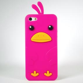 Funda Pollo 3d Silicon Pollito Rosa Para Iphone 5 5s Se