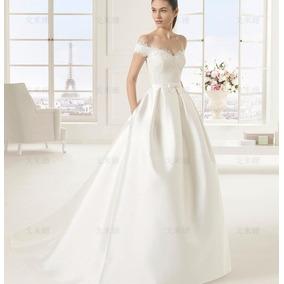 Vl36 Vestido De Noiva Lindo Clássico Elegante Importado