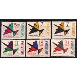 Serie Ordinaria Aerea Aviones 91 A 94 6 Diferentes Año 1963