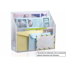 Porta Ficha Parede Mesa Office Transparente Vertical