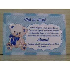 75 Convites Personalizados Chá De Bebê Menino