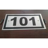 18 Placas Sinalização Garagem Apartamento Aço Inox 10x20 Cm