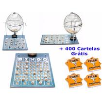 Kit Bingo 75 Bolas Grande Nº3 Com 400 Cartelas Iz